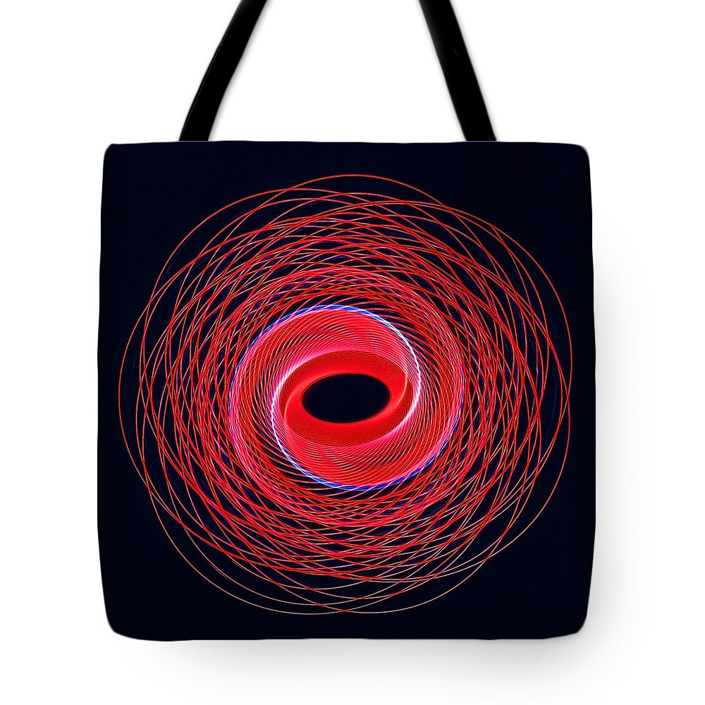 Abstracts Tote Bag featuring the photograph Spiral Abstract 24 by Rich Walter