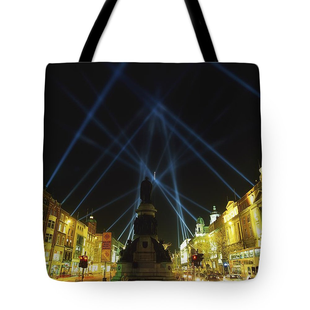 Urban Tote Bag featuring the photograph Spire Of Dublin, Oconnell Street by The Irish Image Collection