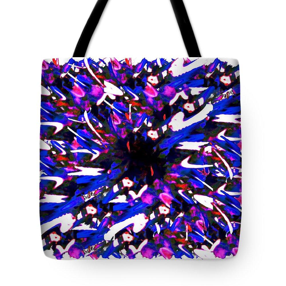 Splat Tote Bag featuring the digital art Splat 1 by Tim Allen
