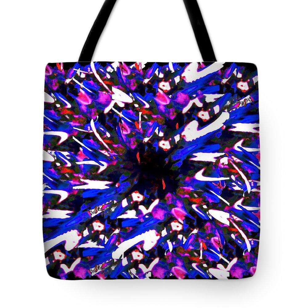 Splat Tote Bag featuring the digital art Splat 2 by Tim Allen