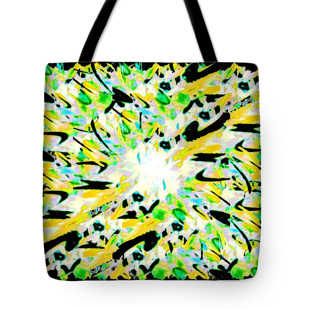 Splat Tote Bag featuring the digital art Splat 3 by Tim Allen