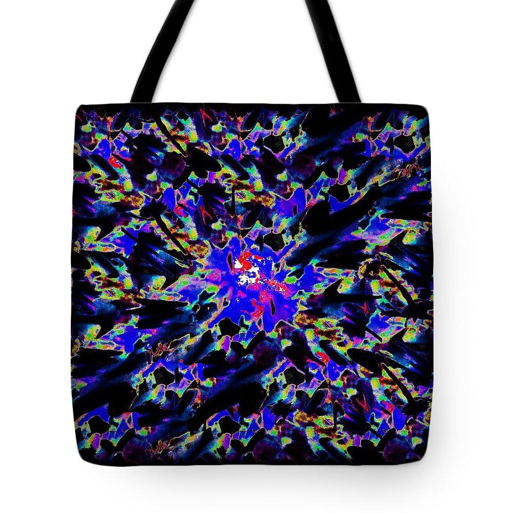 Splat Tote Bag featuring the digital art Splat 5 by Tim Allen
