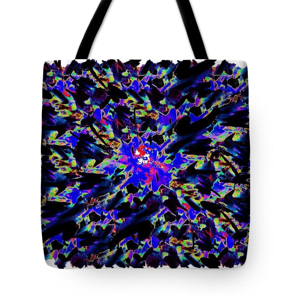Splat Tote Bag featuring the digital art Splat 6 by Tim Allen