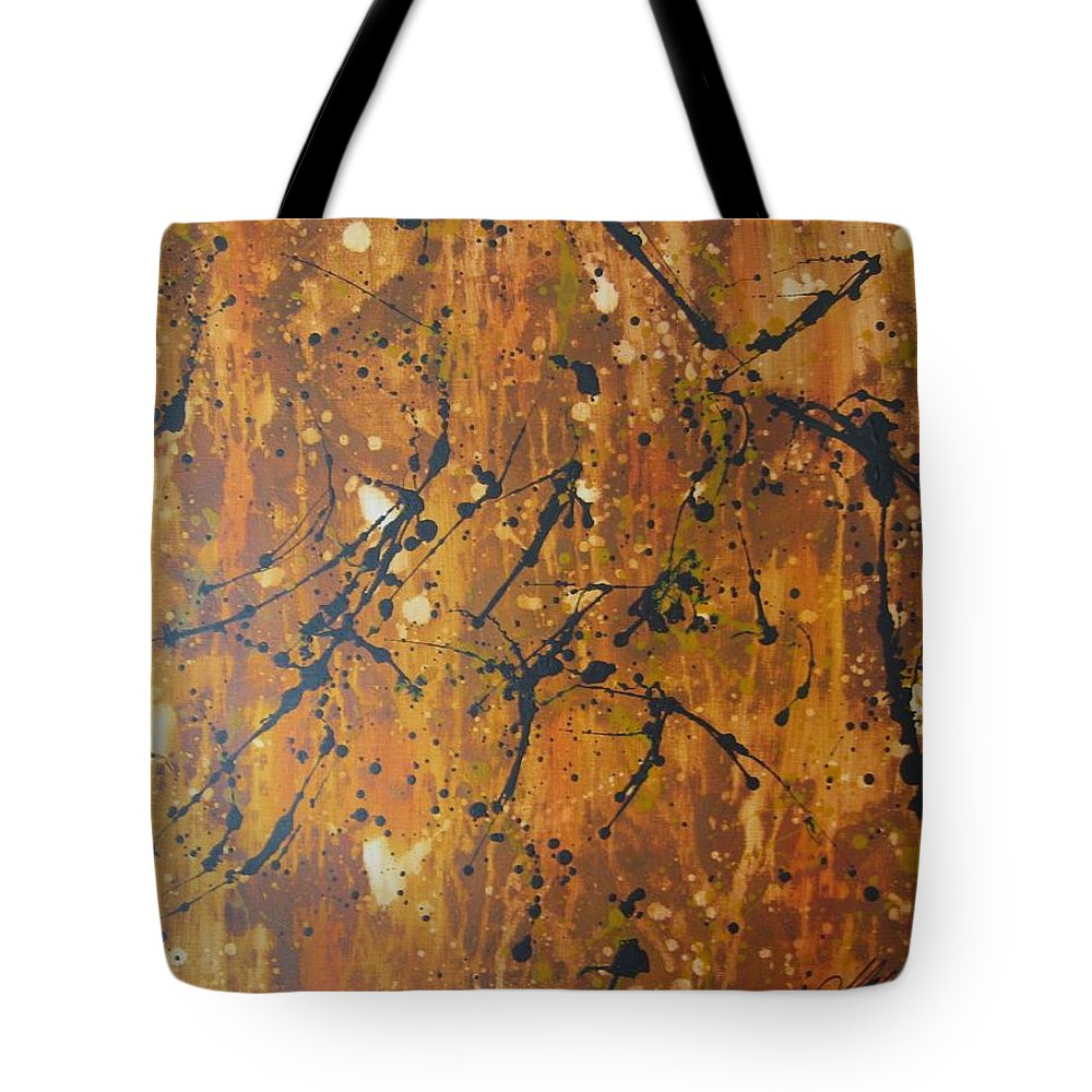 Abstract Tote Bag featuring the painting Splattered Joy by Molly Roberts