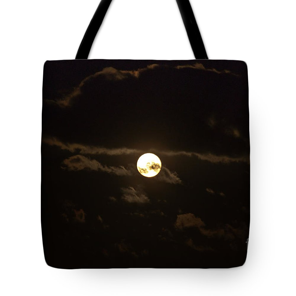 Moon Tote Bag featuring the photograph Spooky Night by Cheryl Baxter