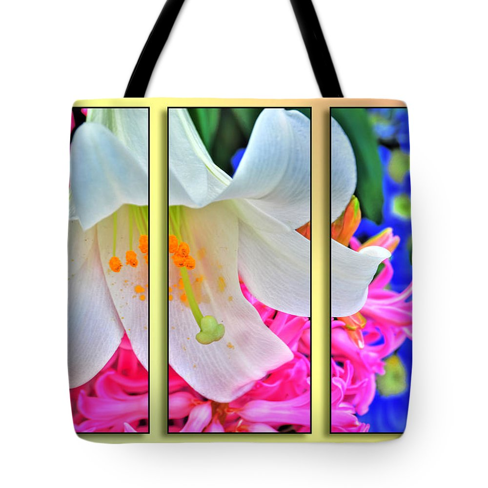 Tote Bag featuring the photograph Spring Again Triptych Series by Michael Frank Jr