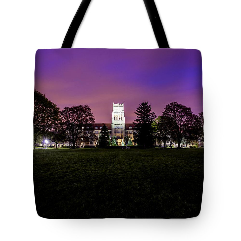 Cj Schmit Tote Bag featuring the photograph Spring Skies by CJ Schmit