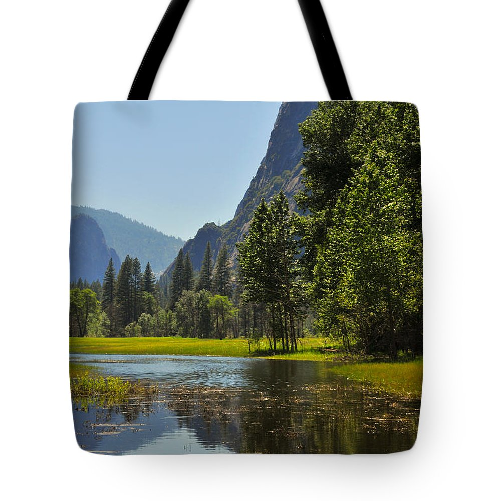 Yosemite Tote Bag featuring the photograph Spring Thaw by Lynn Bauer