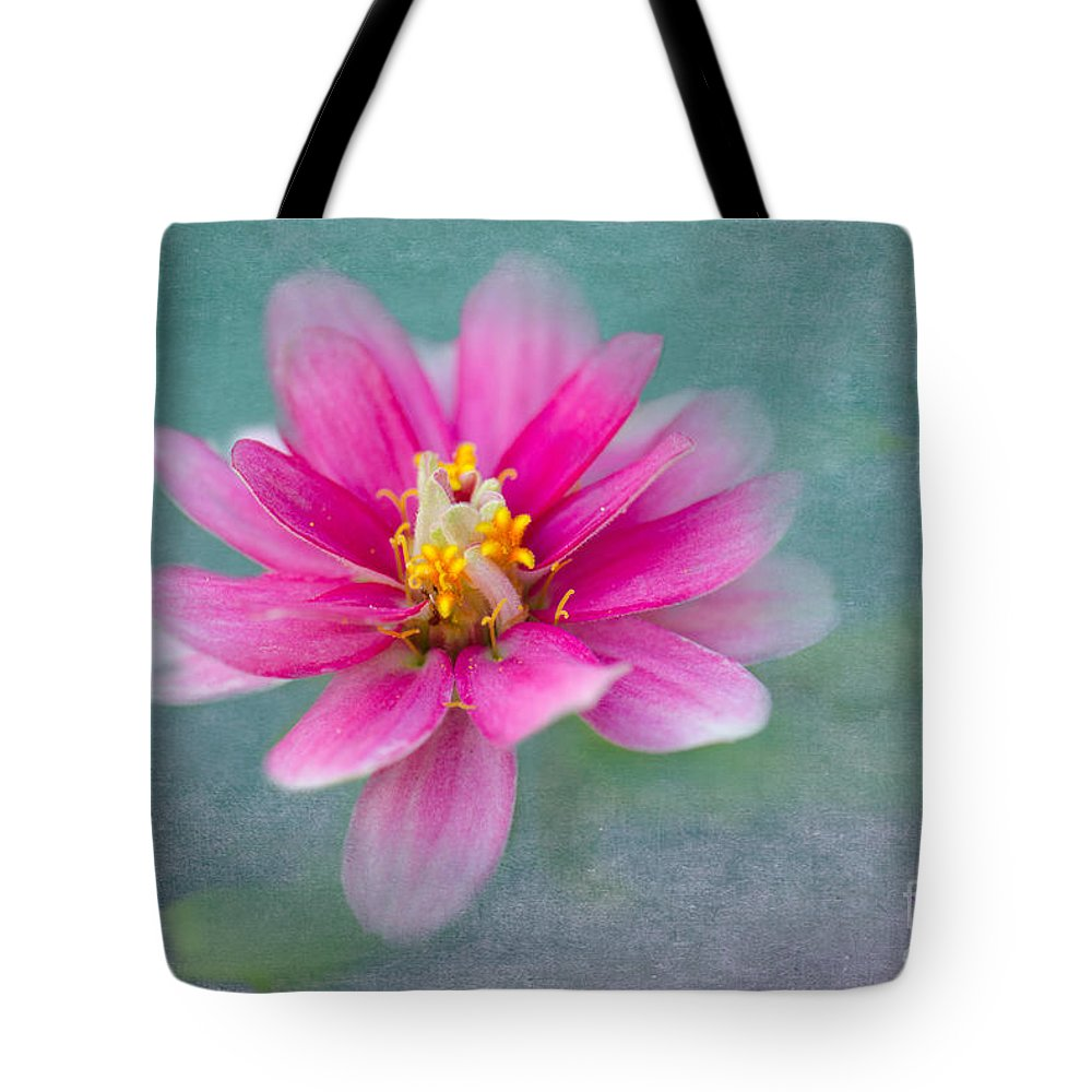 Zinnia Tote Bag featuring the photograph Springtime by Betty LaRue