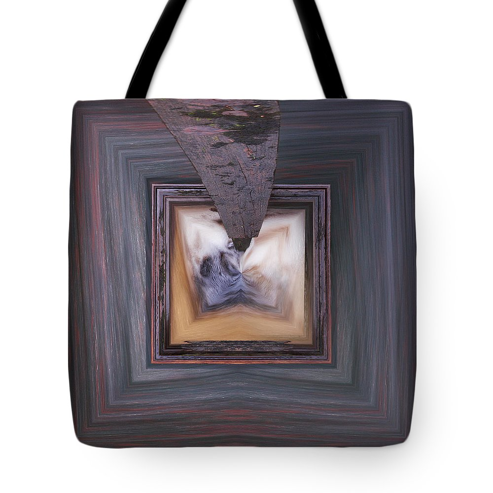 Liesijoki Tote Bag featuring the photograph Squared Stream by Jouko Lehto