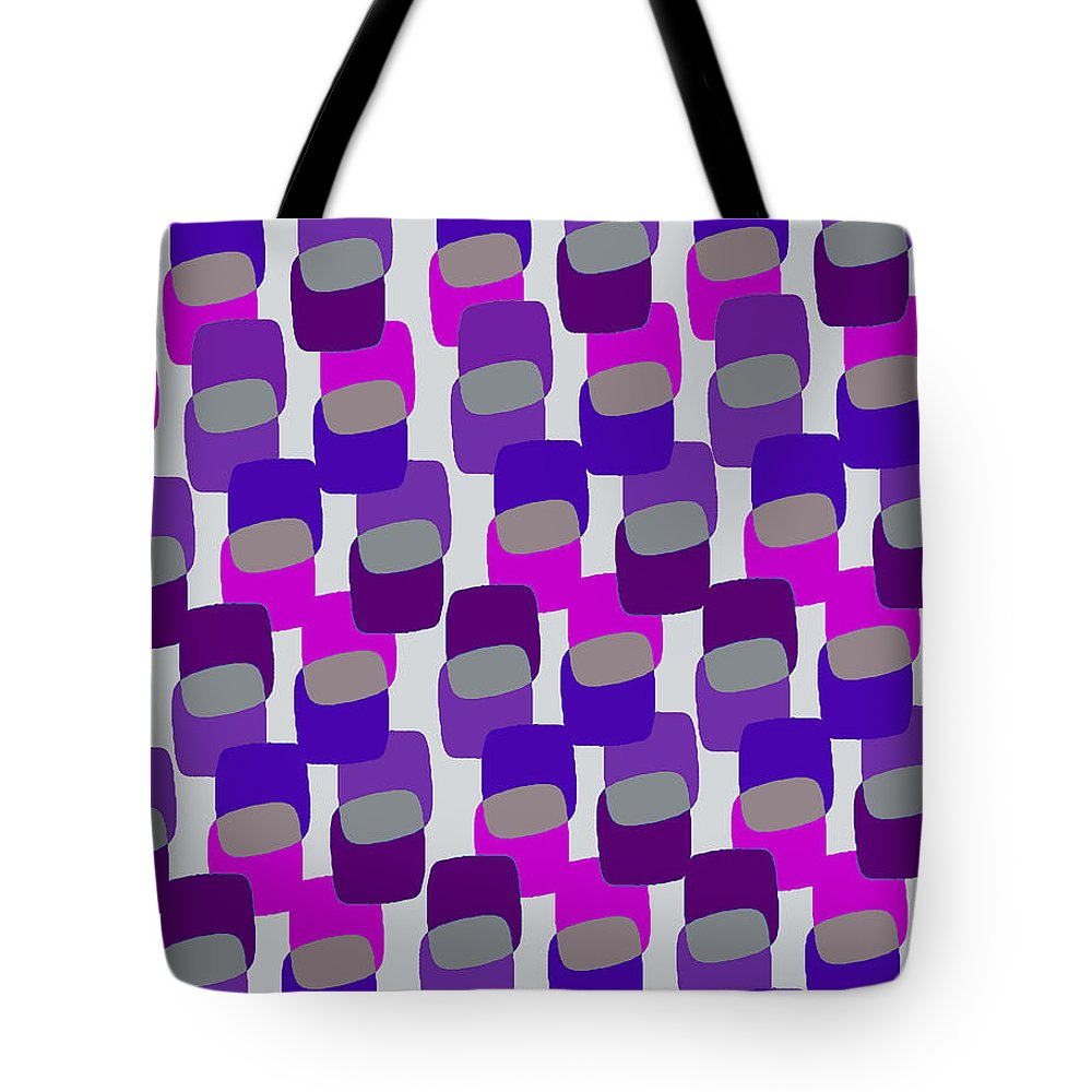 Louisa Tote Bag featuring the digital art Squares by Louisa Knight