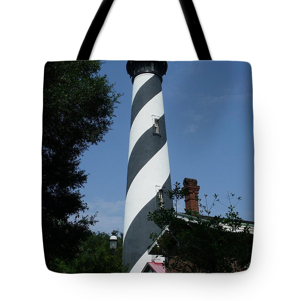 Lighthouse Tote Bag featuring the photograph St. Augustine Lighthouse by Peggy King