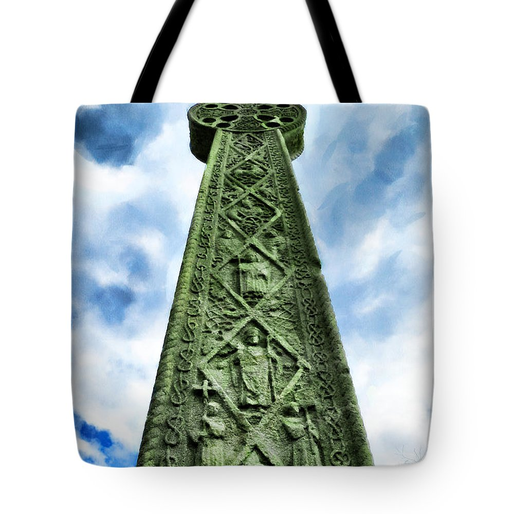 Ramsgate Tote Bag featuring the photograph St Augustines Cross Close Up by Steve Taylor