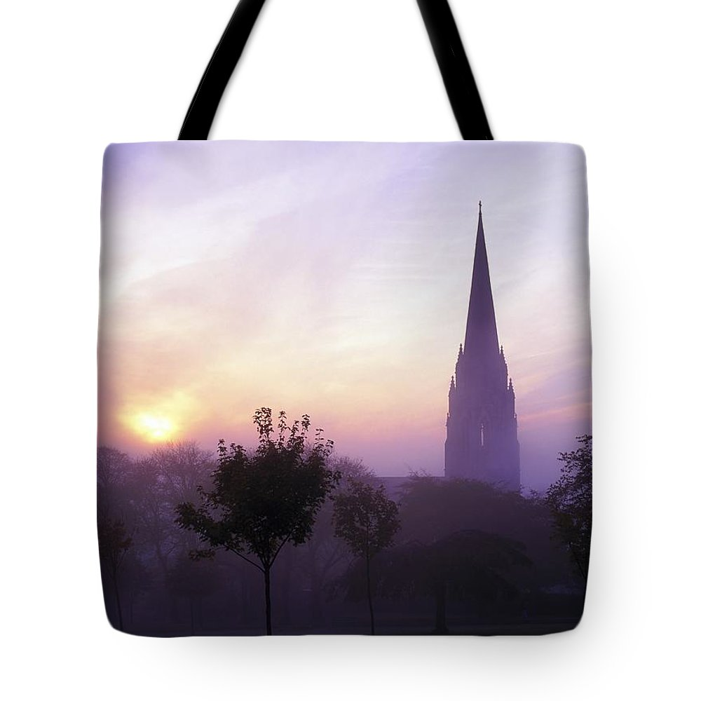 Back Lit Tote Bag featuring the photograph St Eugenes Cathedral, From Brooke Park by The Irish Image Collection