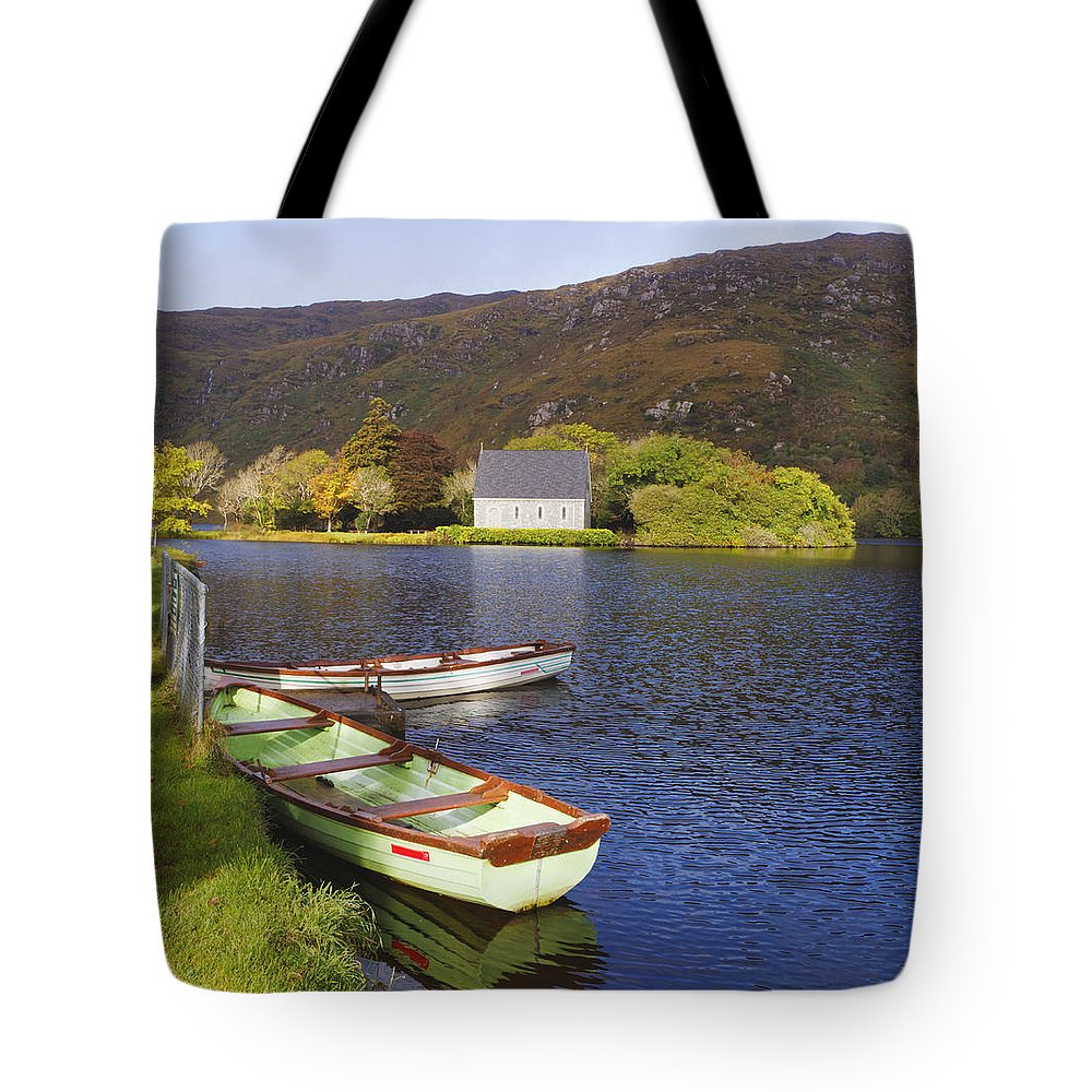 Building Tote Bag featuring the photograph St. Finbarres Oratory And Rowing Boats by Ken Welsh