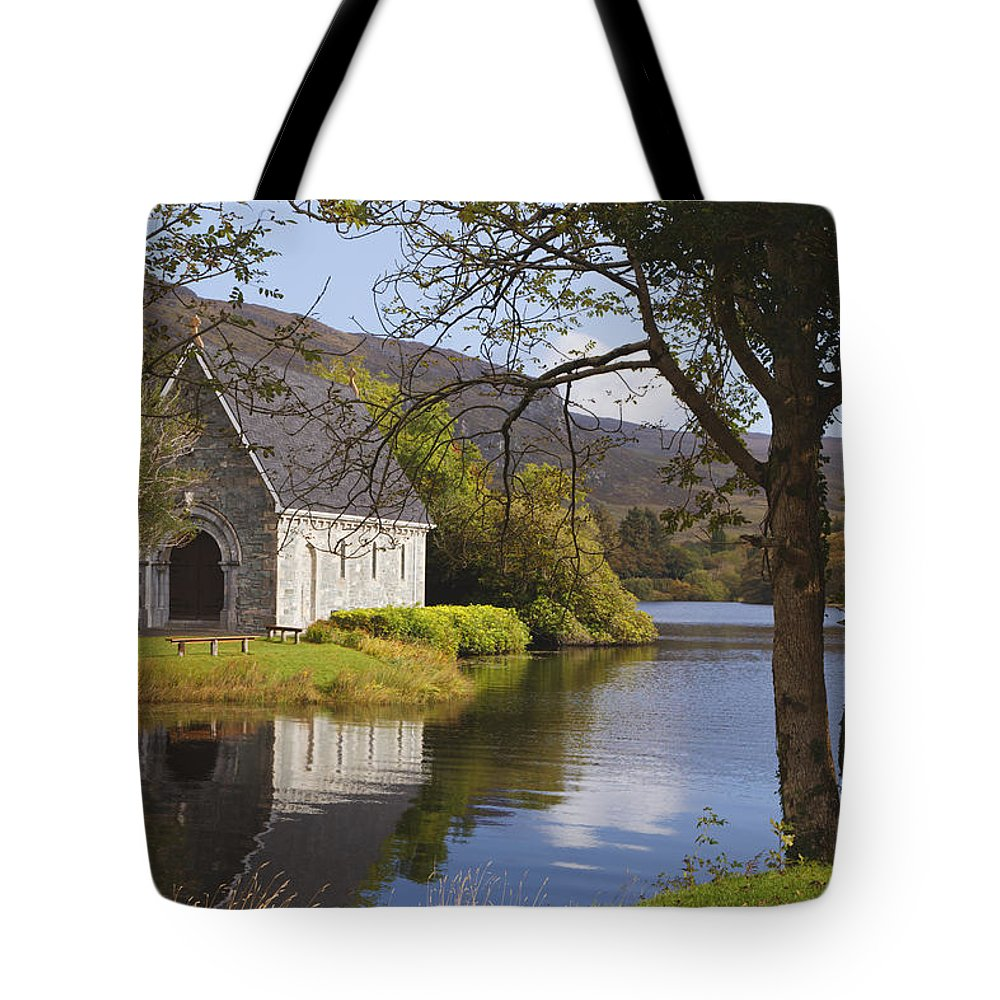 County Cork Tote Bag featuring the photograph St. Finbarres Oratory On Shore by Ken Welsh