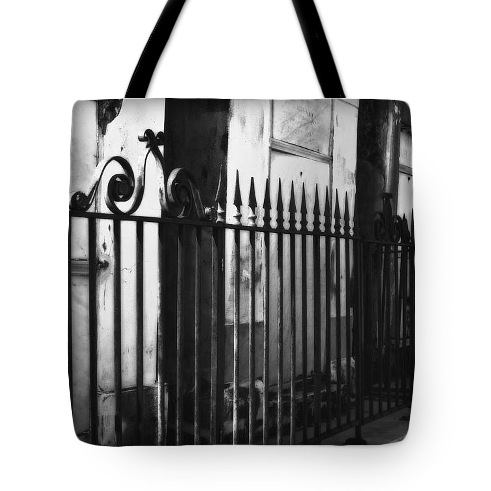 All Tote Bag featuring the photograph St Louis Cemetery Number One Tombs And Wrought Iron by Kathleen K Parker