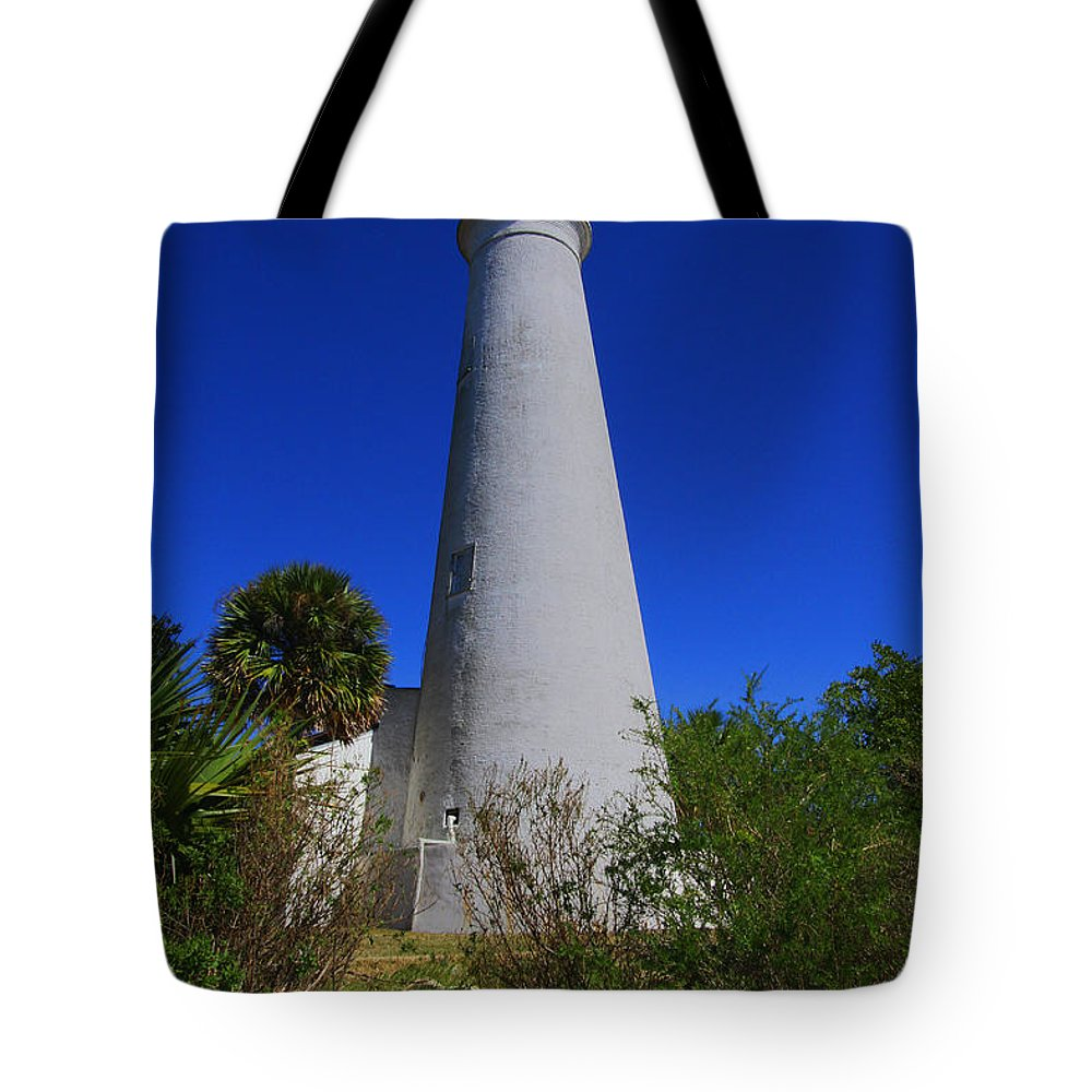 St Marks Lighthouse Tote Bag featuring the photograph St Marks Lighthouse by Barbara Bowen
