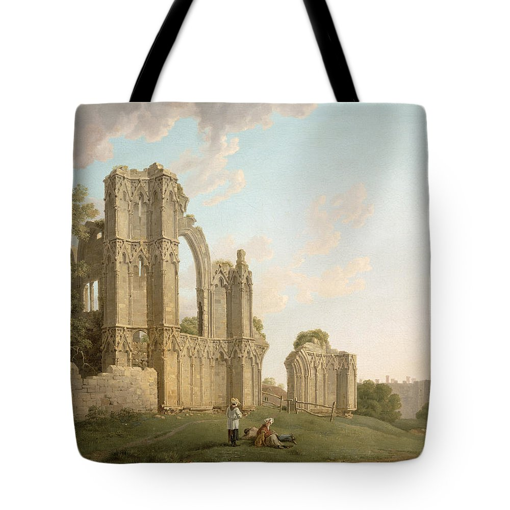 Mary Tote Bag featuring the painting St Mary's Abbey -york by Michael Rooker
