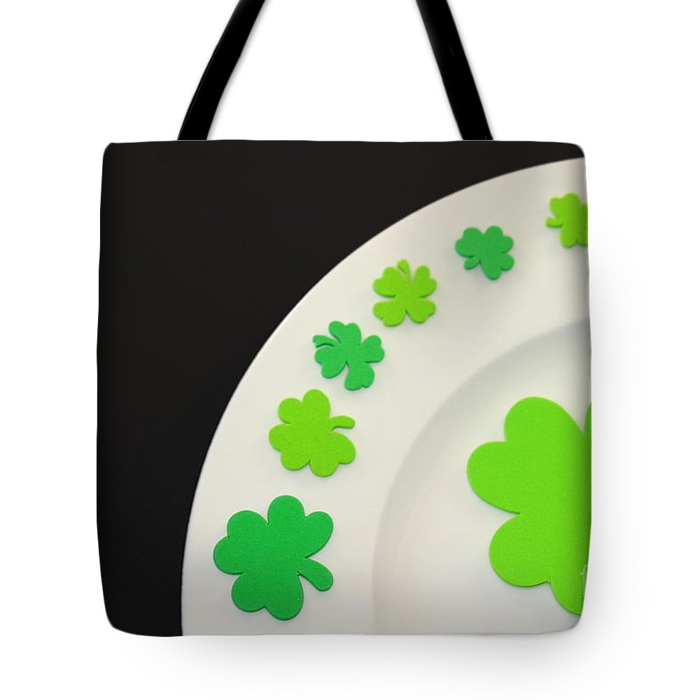 Patrick Tote Bag featuring the photograph St. Patrick's Day Plate by Henrik Lehnerer