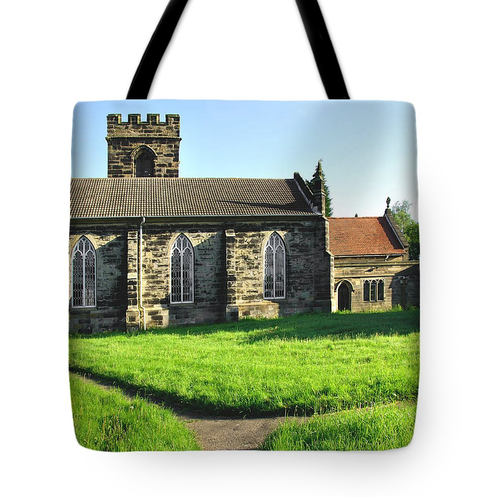 Derbyshire Tote Bag featuring the photograph St Peter's Church - Hartshorne by Rod Johnson