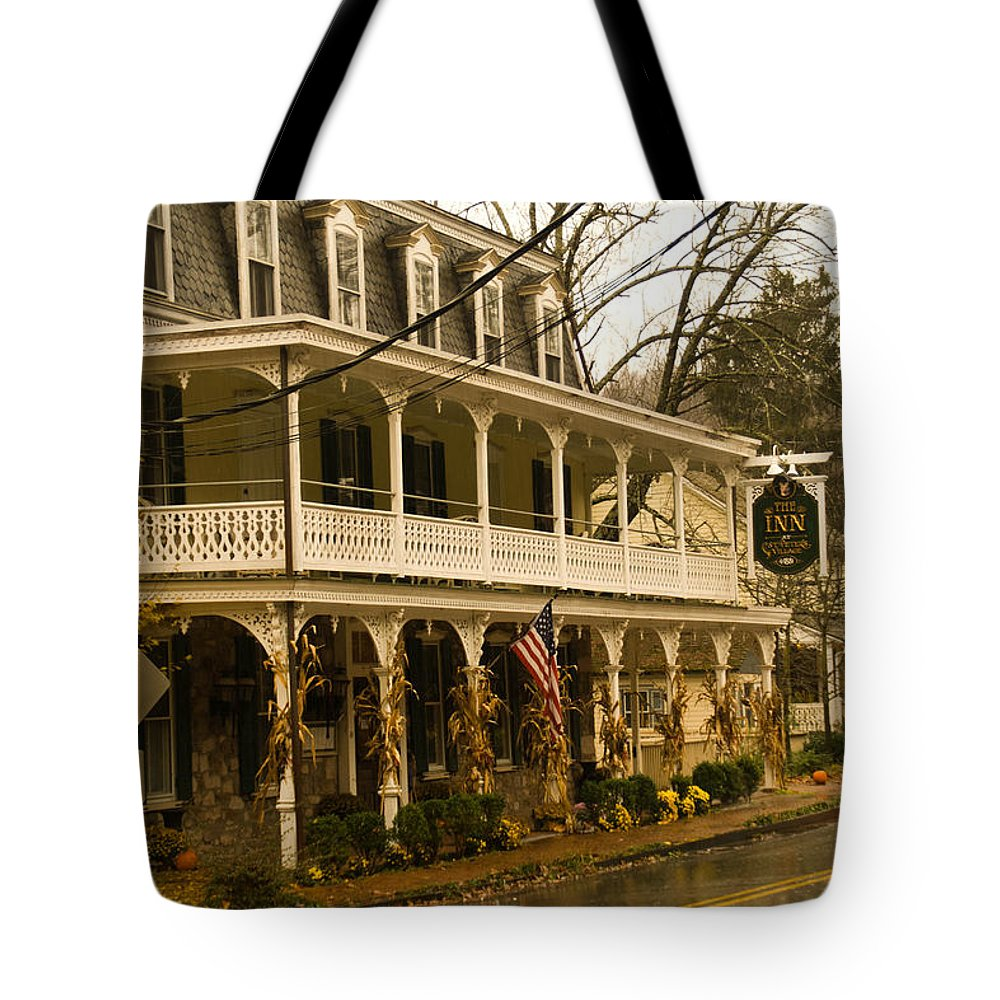 St. Peter's Village Tote Bag featuring the photograph St. Peter's Village by Trish Tritz