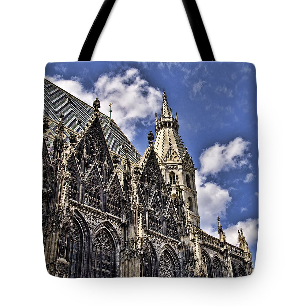 St Stephens Cathedral Vienna Tote Bag featuring the photograph St Stephens Cathedral - Vienna by Jon Berghoff