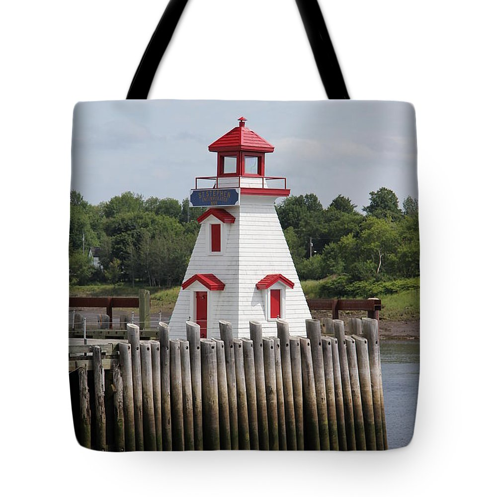 St. Stephen Lighthouses Tote Bag featuring the photograph St Stephens by Diane Greco-Lesser