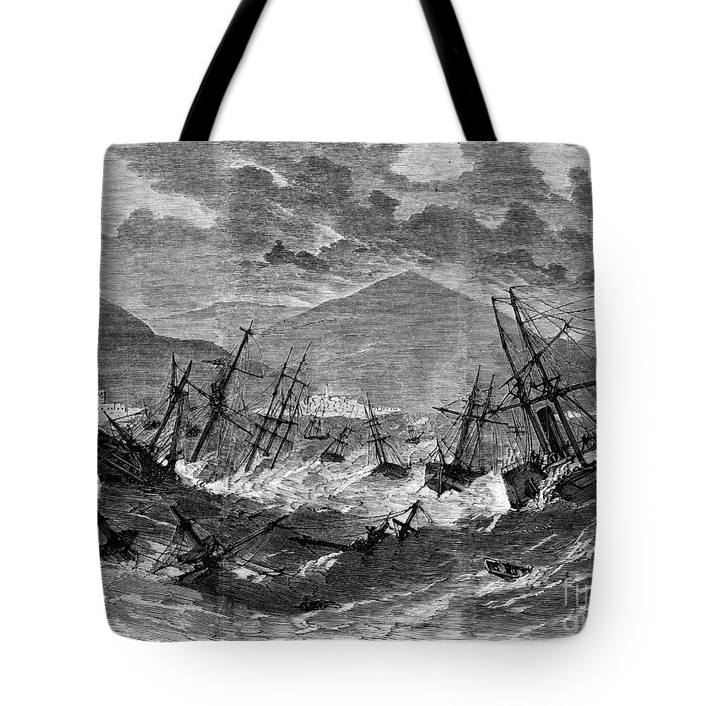 1867 Tote Bag featuring the photograph St. Thomas: Hurricane, 1867 by Granger