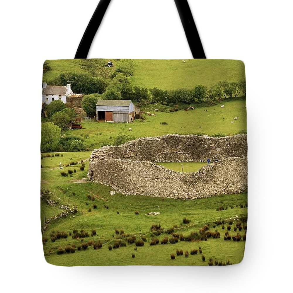 Cummins Tote Bag featuring the photograph Staigue Fort, Kerry by Richard Cummins