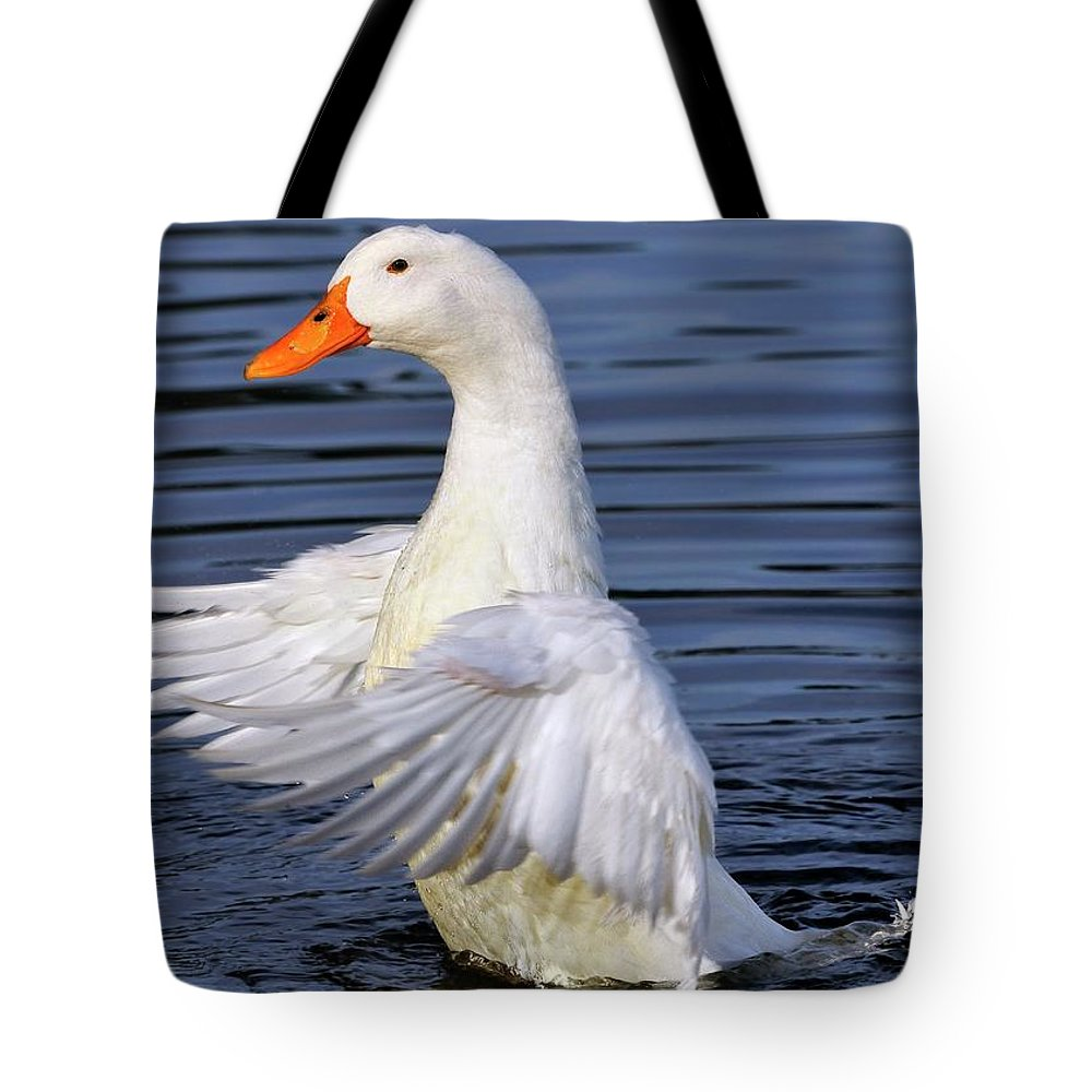 White Tote Bag featuring the photograph Stand Up And Shout by Bill Dodsworth