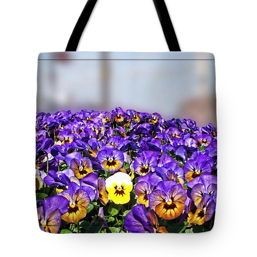 Nature Tote Bag featuring the photograph Standing Out In The Crowd by Debbie Portwood