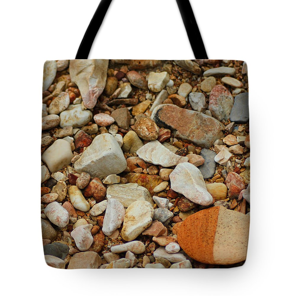 Rocks Tote Bag featuring the photograph Standing Out by Karen Wagner
