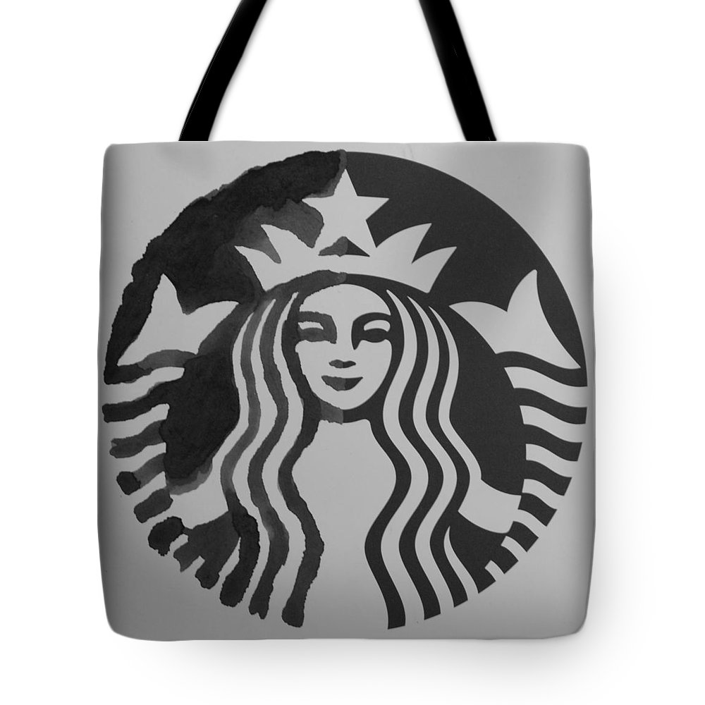 Starbuck Tote Bag featuring the photograph Starbuck The Mermaid In Black And White by Rob Hans