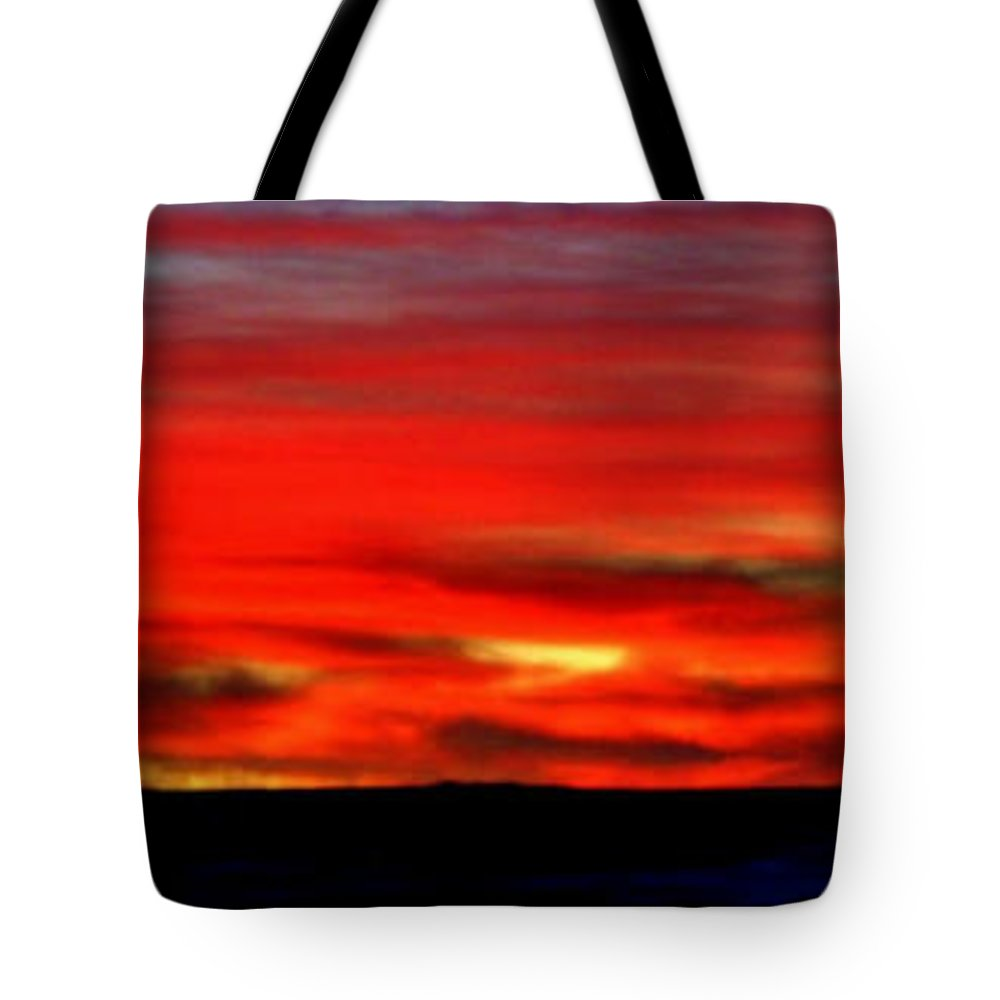 Sunrise Tote Bag featuring the photograph Start Of A New Day by Ellen Heaverlo