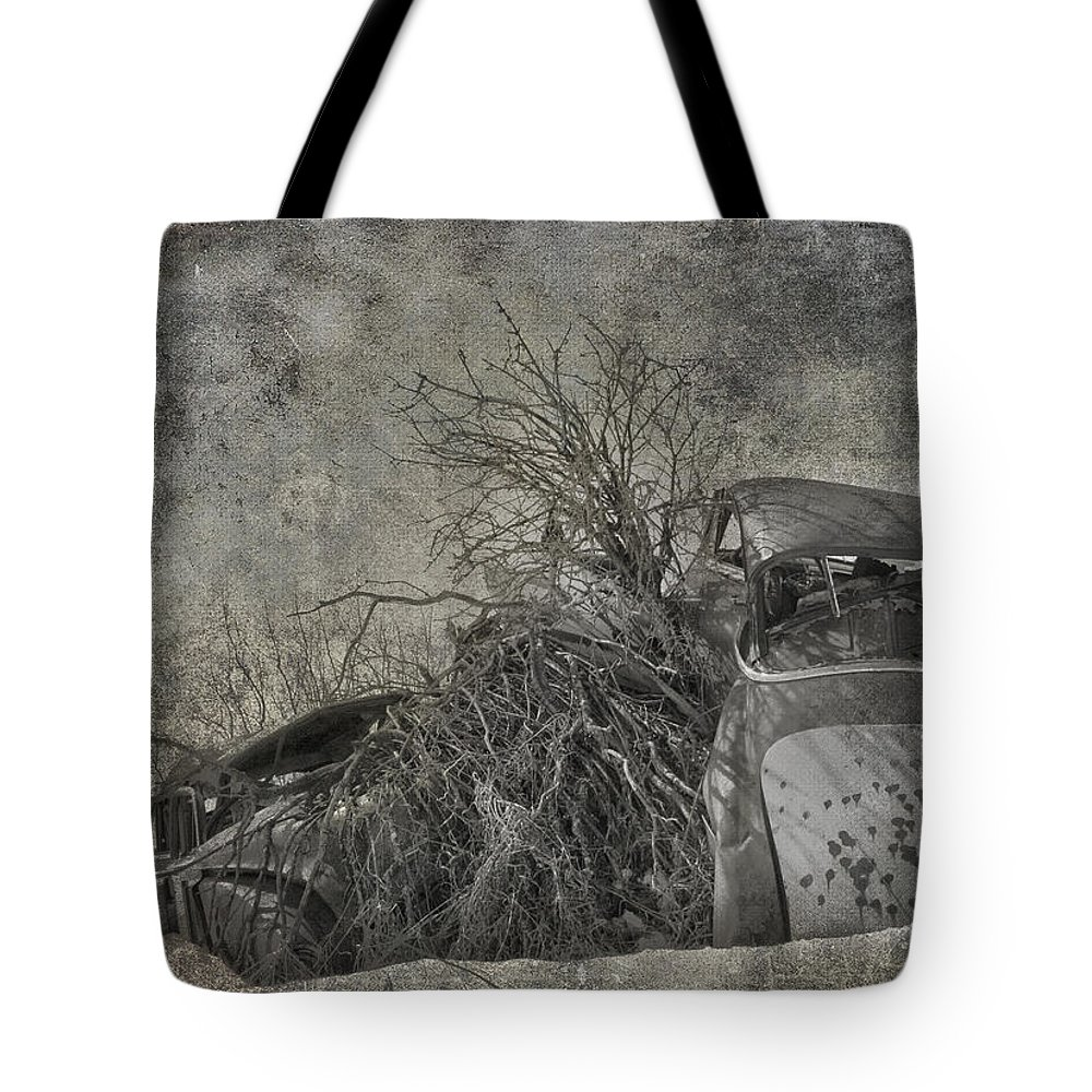 Jerry Cordeiro Tote Bag featuring the photograph Stash The Crash by The Artist Project