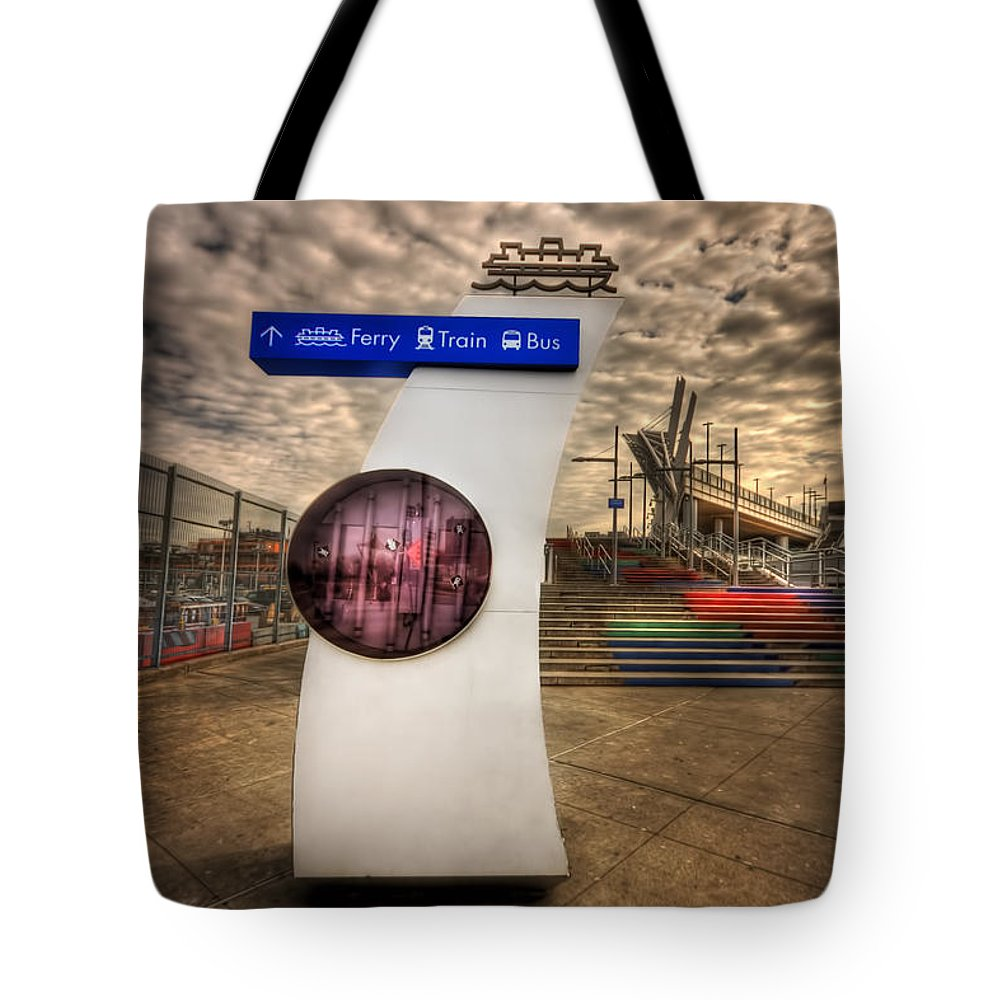 Staten Island Tote Bag featuring the photograph Station Identification by Evelina Kremsdorf