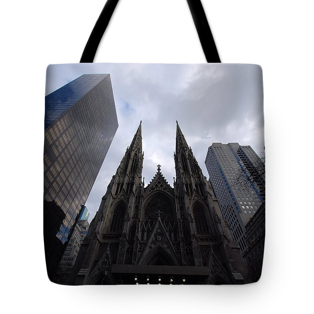 New York City Tote Bag featuring the photograph Steeples by John Schneider