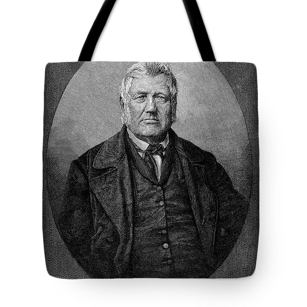 1852 Tote Bag featuring the photograph Stephen Vail (1780-1864) by Granger