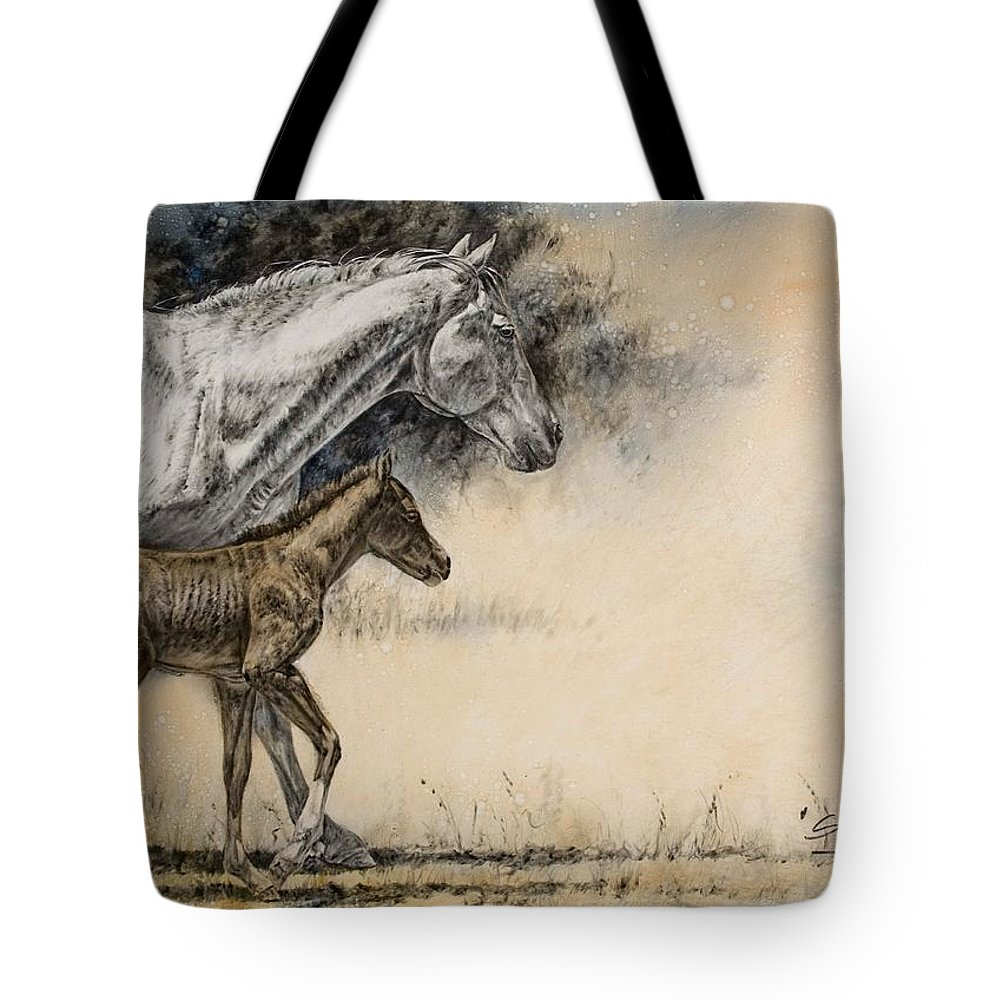 Horse Tote Bag featuring the painting Steppin' Out by Virgil Stephens