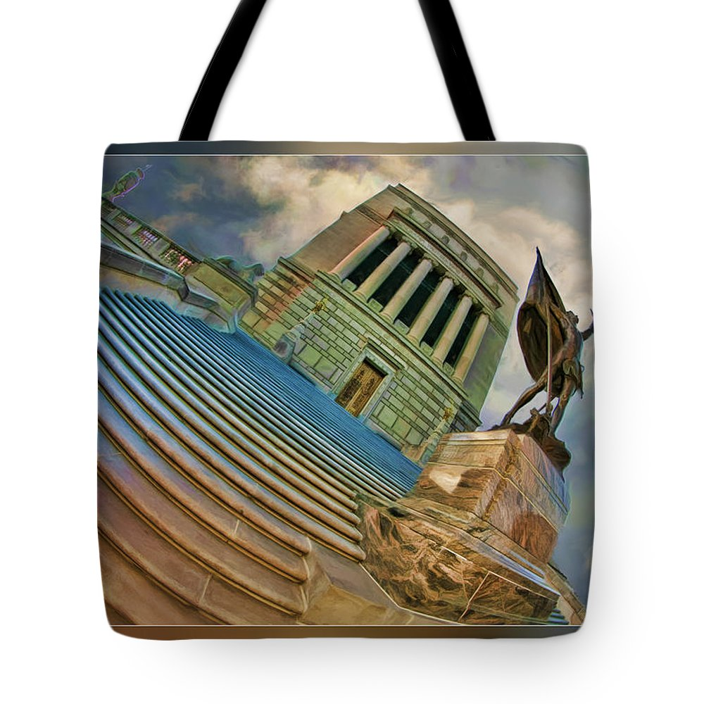 Tote Bag featuring the photograph Steps To Justice by Blake Richards
