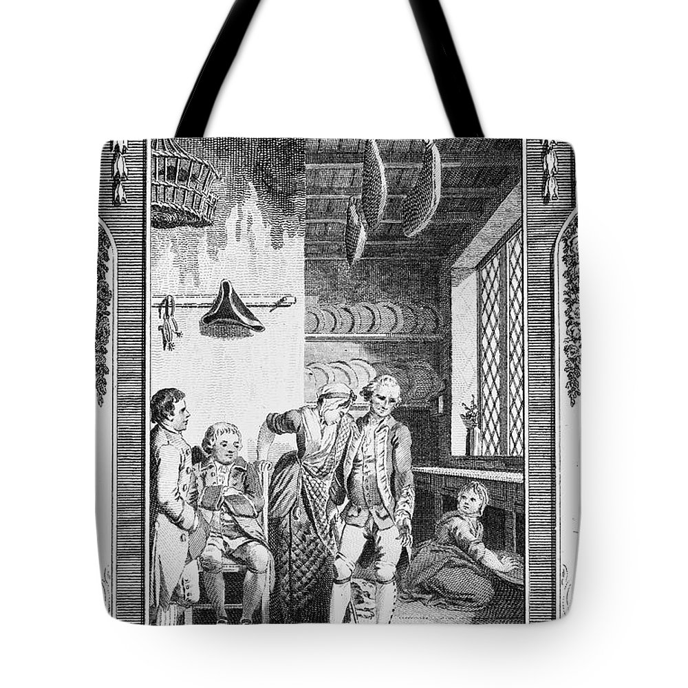 1781 Tote Bag featuring the photograph Sterne: Tristram Shandy. Engraving For The 1781 Edition Of Laurence Sternes Novel by Granger