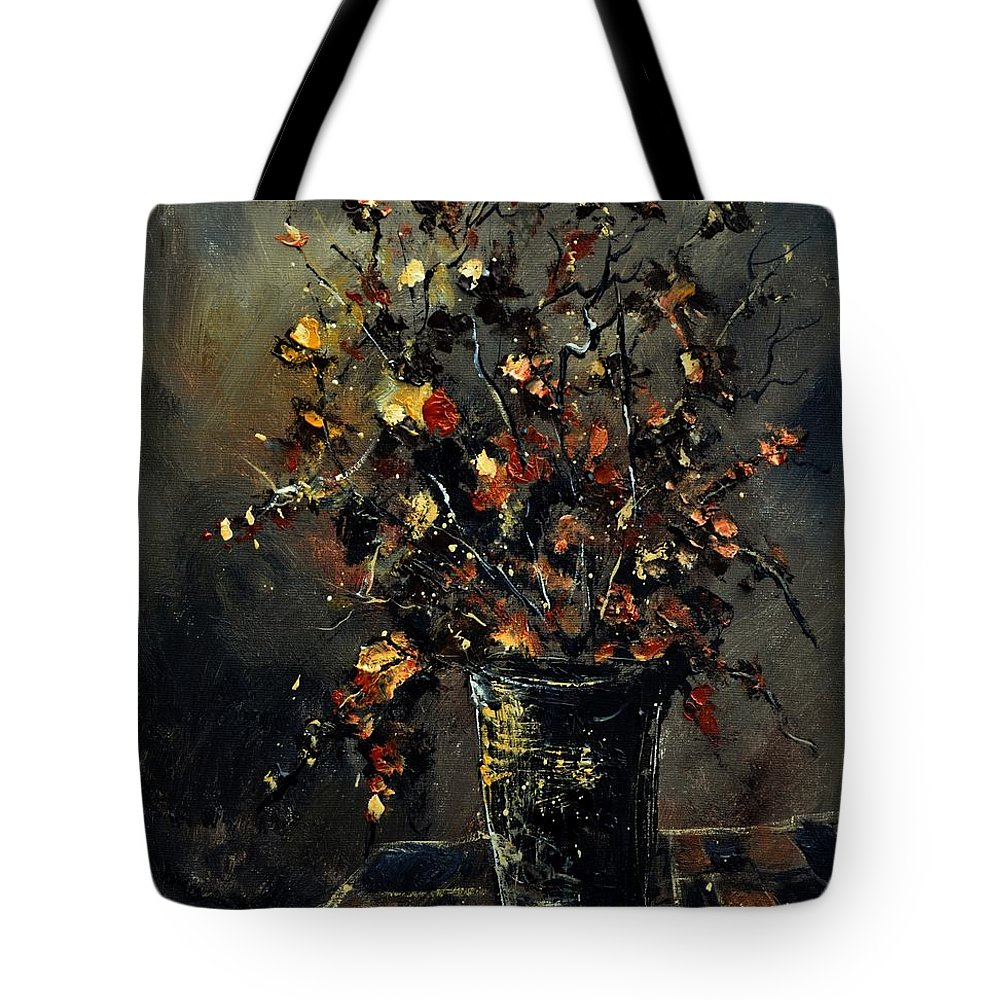 Still Life Tote Bag featuring the painting Stil Life 561111 by Pol Ledent