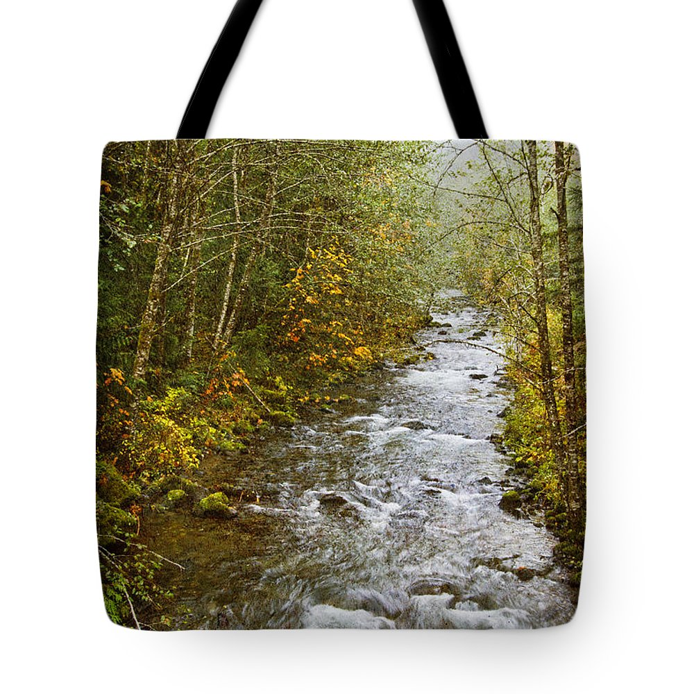 Still Creek Tote Bag featuring the photograph Still Creek by Wes and Dotty Weber