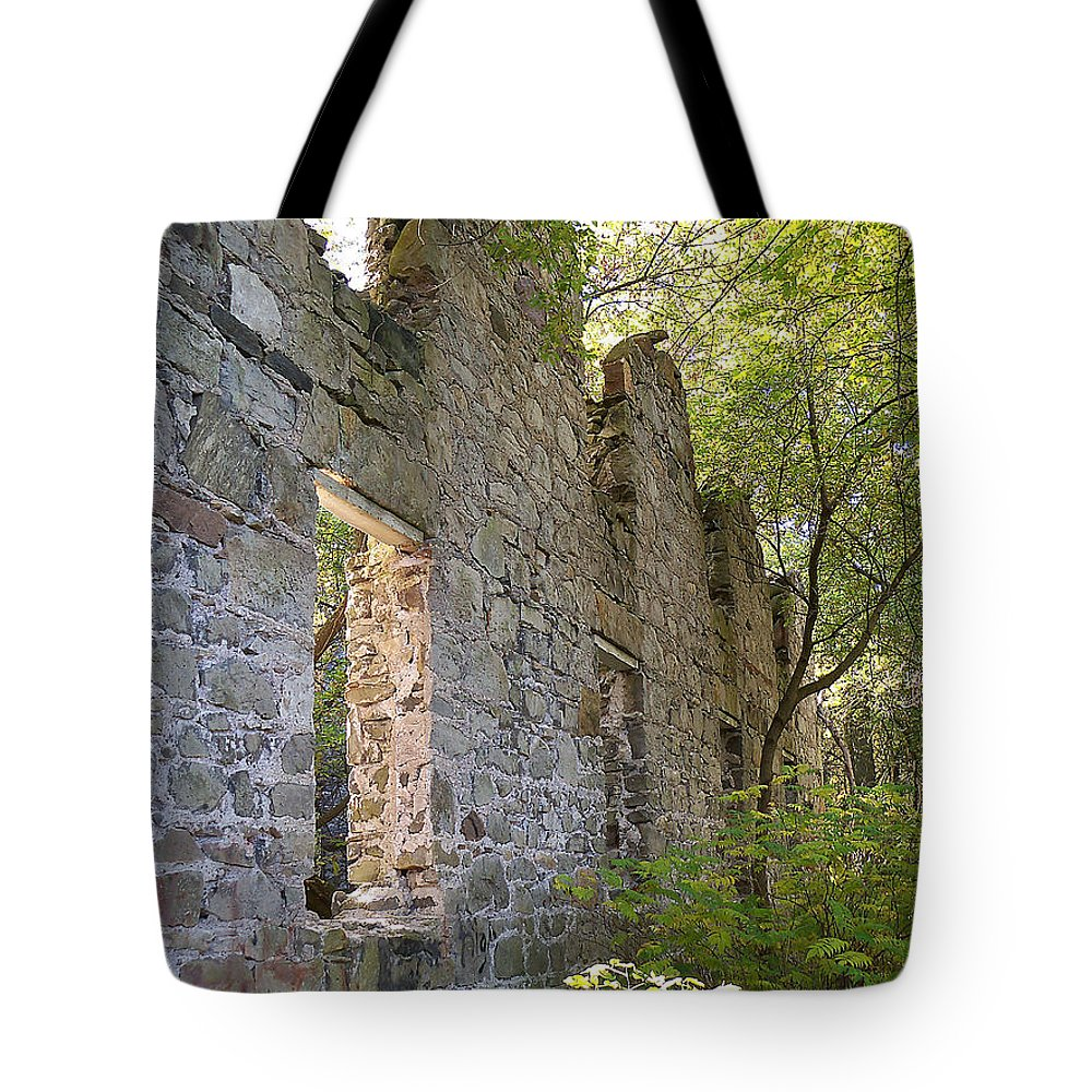 Building Tote Bag featuring the photograph Still Standing by Corinne Elizabeth Cowherd