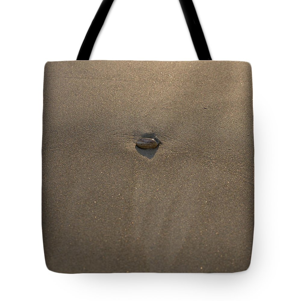 Blue Tote Bag featuring the photograph Stone And Sand by Michael Goyberg