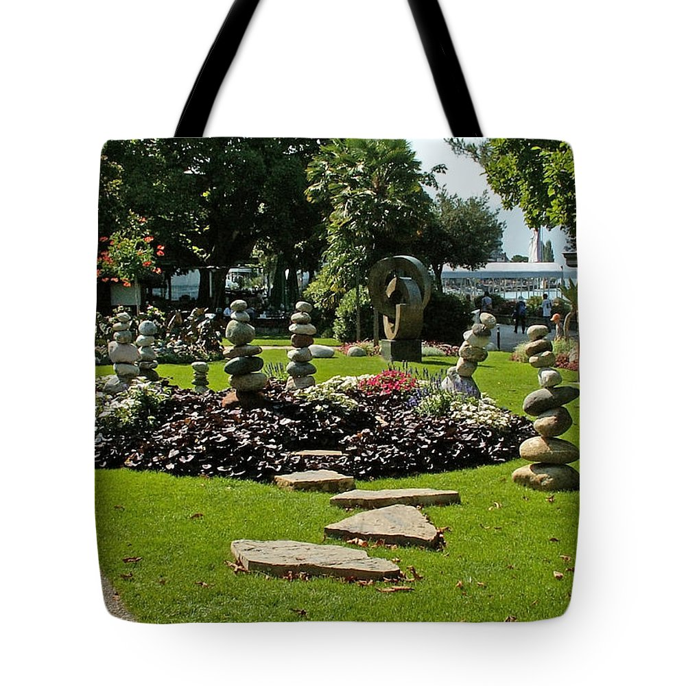 Park Tote Bag featuring the photograph Stones Of Montreux by Evgeny Pisarev