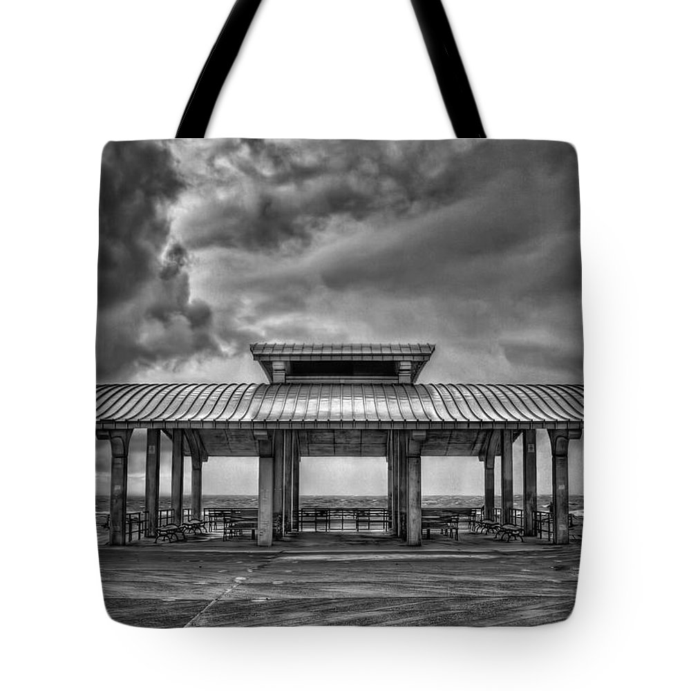 Brighton Tote Bag featuring the photograph Storm Before The Calm by Evelina Kremsdorf