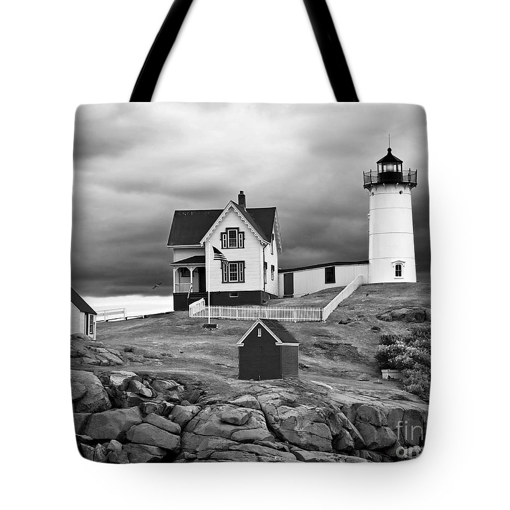 Outdoors Tote Bag featuring the photograph Storm Warning by Jim Chamberlain