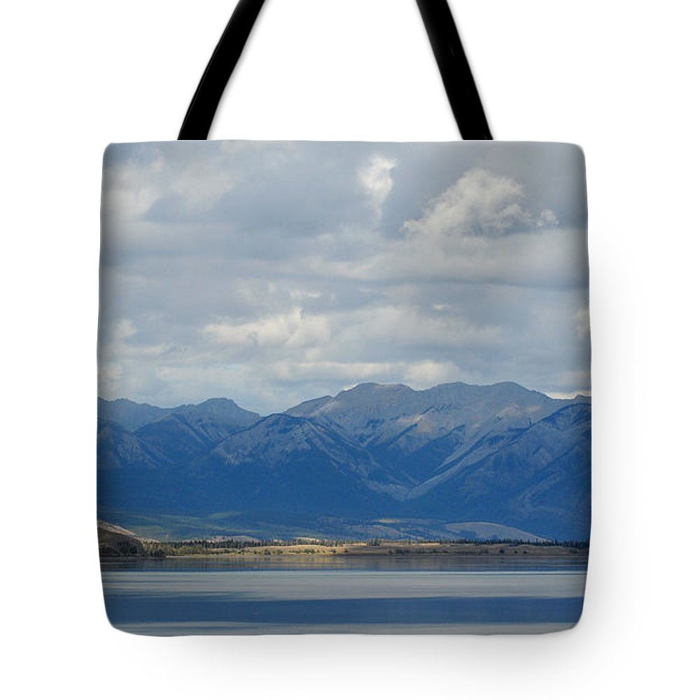 Mountains Tote Bag featuring the photograph Stormy Skies In Jasper by Vivian Christopher